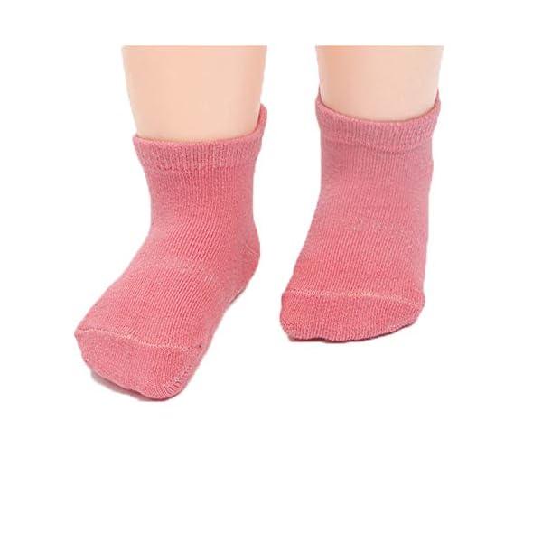 Z-Chen Calcetines Antideslizantes para Bebé Niños (Pack de 12 Pares), Niñas, 0-1 Años 4