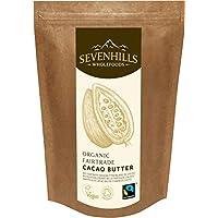 Sevenhills Wholefoods Kakaobutter Bio, Wafers, Fairtrade 500g
