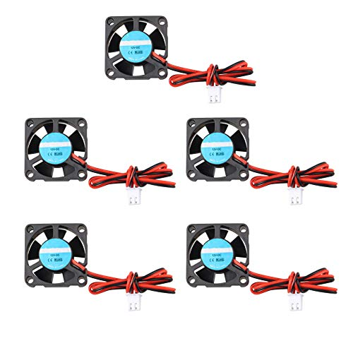 5 unidades de ventilador de impresora 3D 12 V DC Mini ventilador de refrigeración silencioso 30 x 30 x 10 mm con cable de 28 cm para impresora 3D extrusor Hotend Makerbot MK7 MK8 CPU Chip Arduino