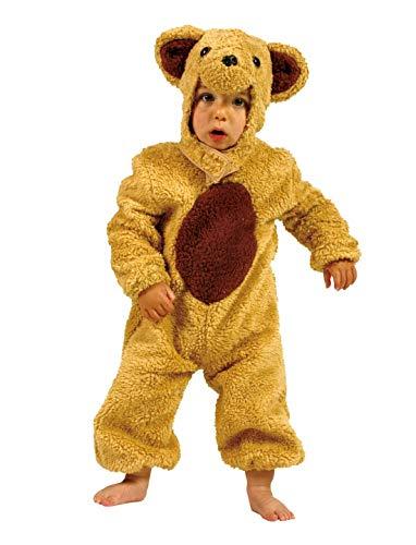 Luxuspiraten - Kinder Jungen Mädchen Kostüm Plüsch Braunbär Bär Teddybär Bear Fell Einteiler Onesie Overall Jumpsuit, perfekt für Karneval, Fasching und Fastnacht, 104, (Löwe Tiger Bär Halloween Kostüm)