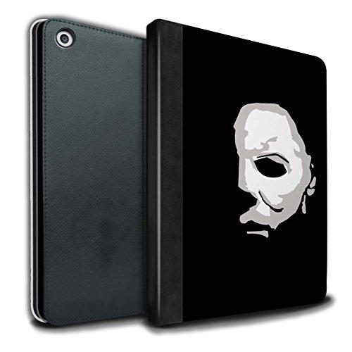 Stuff4® PU-Leder Hülle/Case/Brieftasche für Apple iPad 9.7 (2017) Tablet/Michael Myers Inspiriert Kunst Muster/Grusel Filmkunst Kollektion
