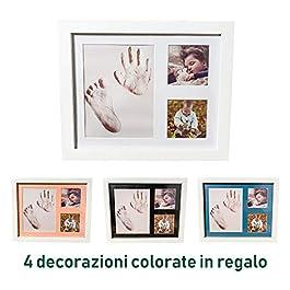 Impronta Mani E Piedi Neonati, Cornice Impronte Neonato Per Splendido Regalo A Neonato E Mamma.Kit Impronta Per Nascita…