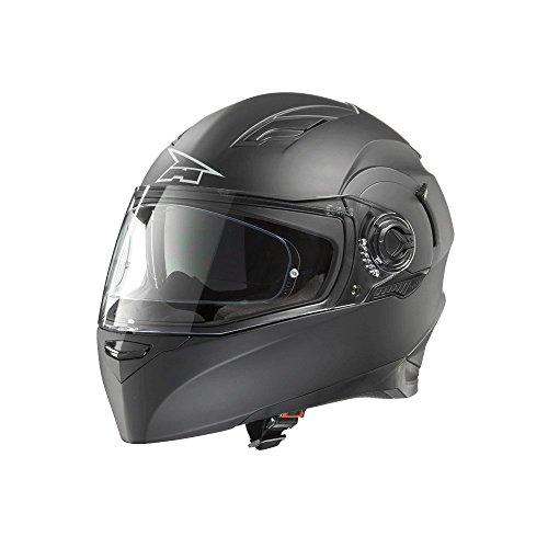 Axo - Casco RS01Mono con Pinlock, color negro mate, talla L