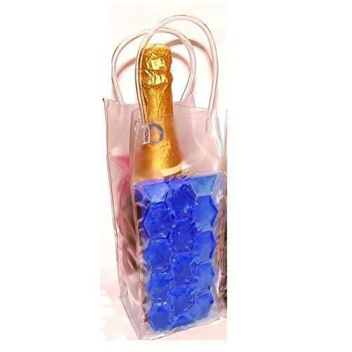 joka international GmbH Party Gel Flaschenkühler Blau Sektkühler, Weinkühler, Kühler Zum einfrieren, bis 1L Flaschen