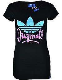 Adidas t-shirt script pour femme avec logo adidas trèfle