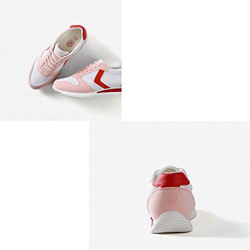 LIANGJUN Scarpe Da Donna Piatto Scarpe Da Ginnastica Tacchi Bassi Sport All'aperto, 6 Formati Disponibili, 3 Colori ( Colore : Nero , dimensioni : EU35=UK4=L:225mm ) Rosa