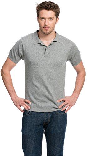 Poloshirt Herren - Baumwolle Kaschmir - von Citizen Cashmere Hellgrau