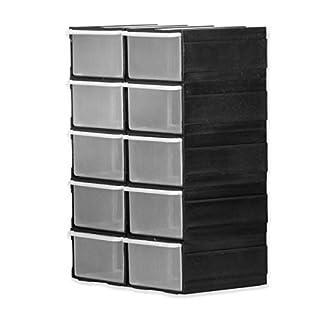 Schubladenbox schwarz Kunststoffmagazin Magazin Kleinteile Schrauben Regal