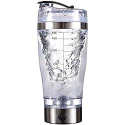 450 ML Portable Protein Shaker Flasche Dicht Elektrische Tornado Shaker Cup Für Rühren Pulver Ergänzungen, Kaffee, Protein, Baby Formel, Saft
