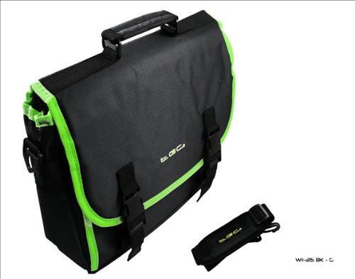 Schwarz & elec grün Rand Messenger Stil Tragetasche 4Dell Streak 7Tablet