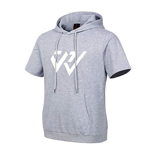 OKC Russell Westbrook, Paul George Herren Kurzärmliges T Shirt mit Kapuze Basketball Sport Tee Tops, Ärmellose Hoodies für Männer