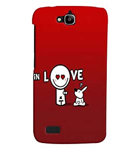 Fuson Love Back Case Cover for HUAWEI HONOR HOLLY - D3964