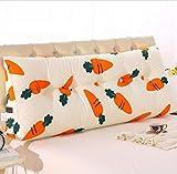 Dreieckkissen Dreieckige Bett Kopfkissen Sofakissen Einzelbett Bett Softpack Bett Große Kissen Bett Kissen Länge 150 Breite 20 Höhe 50 cm Taillenkissen (Farbe : #1, größe : 150 * 20 * 50cm)