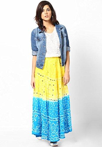 Soundarya - Jupe - Femme Bleu - Bleu