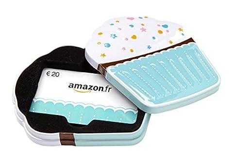 Carte cadeau Amazon.fr - €20 - Dans un coffret Cupcake