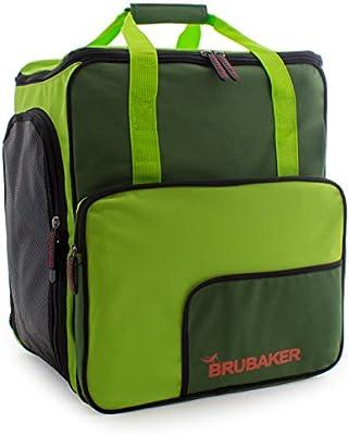 BRUBAKER 'Super Function 2.0' Bolso Para Deporte - Mochila Porta Botas De Esquí - Verde oscuro / Verde