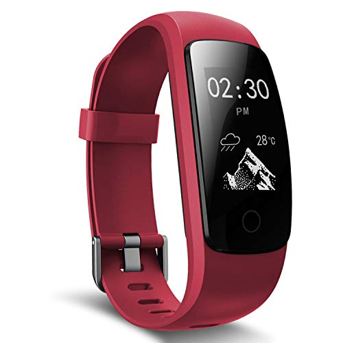 moreFit Fitness Tracker, Slim Touch Activity Tracker Orologio Cardiofrequenzimetro Impermeabile IP67 Cardio Frequenzimetro Pedometro Bluetooth Smart Watch Braccialetto Wristband da Polso Donna Uomo