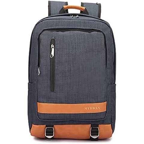 Yisibo Laptop Mochilas de Protección Slim Mochila para portátiles de nylon ligero de la Escuela de Negocios Viajes Deportes mensajero del bolso de la mochila de 17 pulgadas MacBook del ordenador portátil de ordenador Mochilas