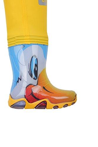 Kinder Wathose Kinderwathose LUCKY DUCKY PRO- VERSTELLBARE TAILLE 9 Modelle SEPARATOR HARNESS , Matschhose Ducks Pro Yellow