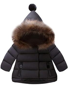 KOLY Cappotto con cappuccio per ragazze Bambini Giacche Manica Lunga Piumino bimba Giacca bambina invernale Cappotto...
