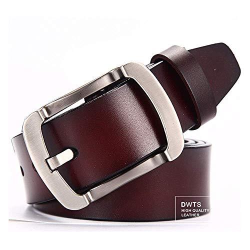 aoliaoyudonggha Men's Genuine Leather Strap Luxury Pin Buckle Belt Cummerbunds Ceinture Homme Teal Cummerbund