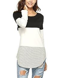 Lylafairy Casual Maglietta Donna Primavera Autunno Camicia Maglia Maniche Lunghe T Shirt