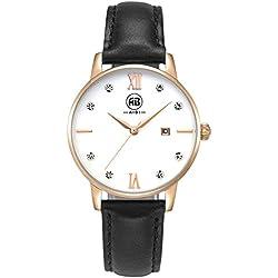 AIBI Wasserdicht Deman Armbanduhr modisch Zeitloses Design Rose gold AB51001-5