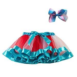 Vectry Niñas Tutu Party Dance Ballet Falda De Traje De Bebé para Pequeños + Juego De Horquilla De Lazo 4