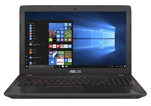 Asus FX553VD-DM603 39,6 cm (15,6 Zoll mattes FHD) Gaming Notebook (Intel Core i5-7300HQ, 8GB RAM, 1TB HDD, Nvidia GeForce GTX 1050, Free DOS) schwarz