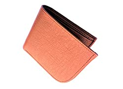 Light Weight Bi Fold Pure Leather Wallet for Men (Tan Curve)