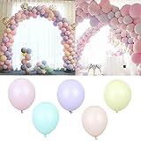 vLoveLife 50 bunte Macaron-Party-Luftballons 25,4 cm Party Latex-Luftballons Feier Geburtstag Babyparty Hochzeit Dekoration Event & Party Supplies 10'' mehrfarbig