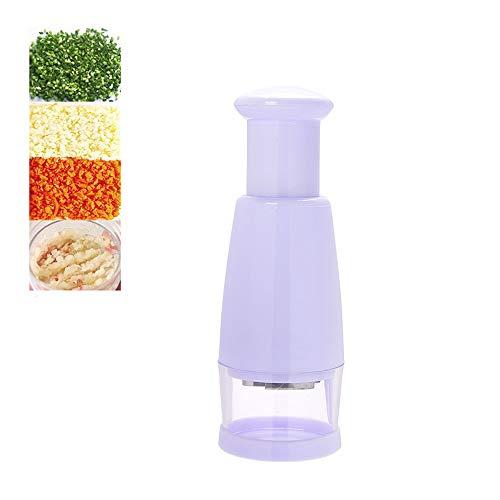 ICYANG Zerkleinerer Chopper Drücken Cutter Obst Slicer Peeler Dicer Gemüseschneider Zwiebel Knoblauch Küche Kochwerkzeug Weiß - Knoblauch-peeler Slicer