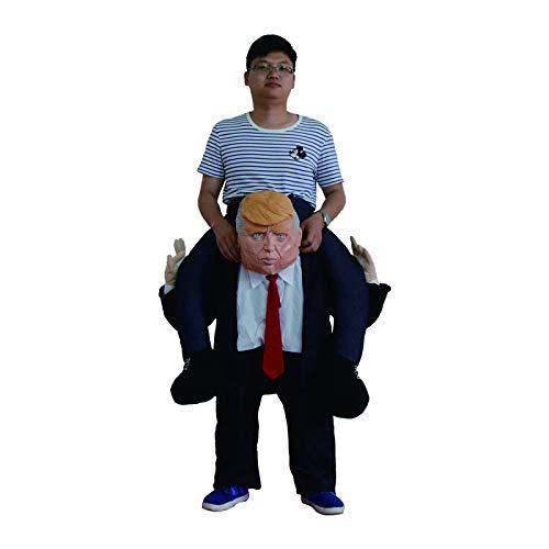 thematys Aufblasbares Präsident USA Trump Kostüm - Lustiges Luftkostüm für Erwachsene 165cm-185cm - Perfekt für Karneval, Junggesellenabschied oder - Kreative Kostüm Damen