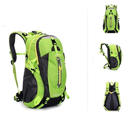 All'aperto alpinismo borsa zaino borsa grande per uomini e donne 50L multiuso impermeabile zaino escursionismo zaino , black Green