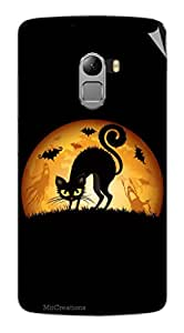 Miicreations Mobile Skin Sticker For Lenovo Vibe K4 Note,Angry Cat