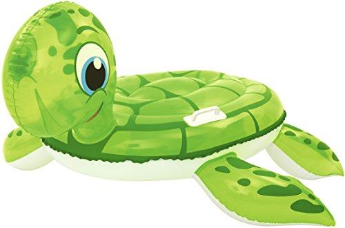 Bestway-26011 41041-tortuga dragón con asa 147x140, Color Verde, 147 x 140 cm...
