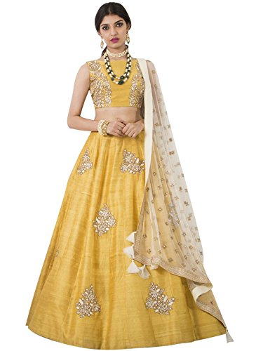 Edeal Online New Latest Designer Yellow Bangalori Silk Bollywood Style Dress Material...