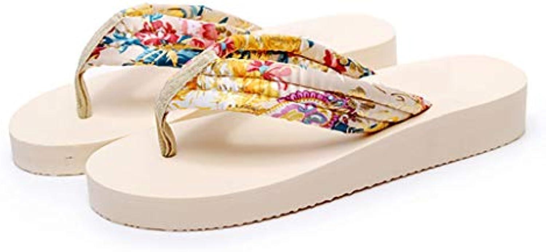les pantoufles de tongs huyp femmes en été antidérapantes chaussures des de plage avec des chaussures coins de la personnalité (taille: 37) 81a773