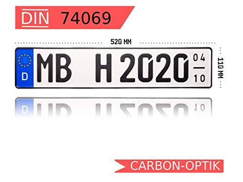 MBH-Shop Carbon-Optik KFZ-Kennzeichen Saison