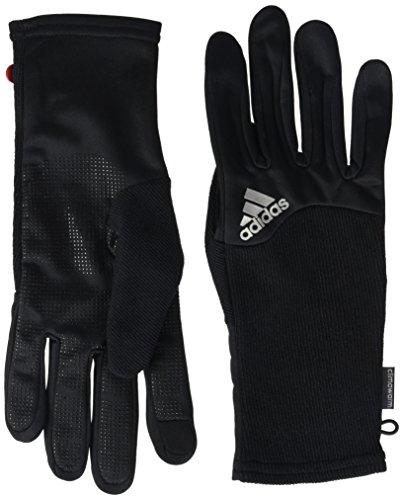 adidas Herren Running Climawarm Handschuhe, Black/Ray Red F16/Silver Met. , L