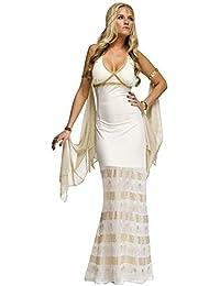 Fancy Me Donna Sexy Lungo Greco Romana Dea Afrodite Venere Costume Vestito 8dc39435eea