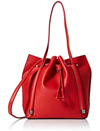 New Look - Simone Slouch, Bolsos totes Mujer, Rojo (Bright Red),