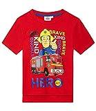 Sam el bombero Camiseta Manga Corta, Rojo (110/5 Años)