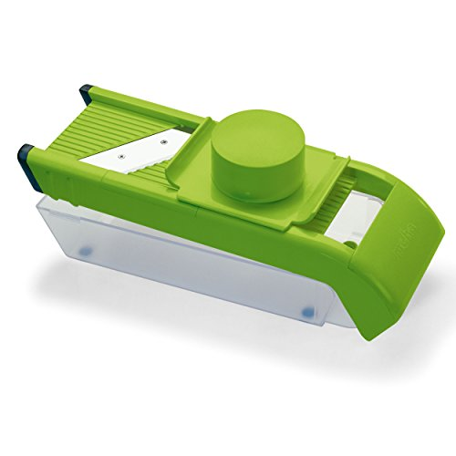 "Price comparison product image moHA ""Slizzy"" Vegetable Slicer Set With 5 Inserts, Green/Transparent"