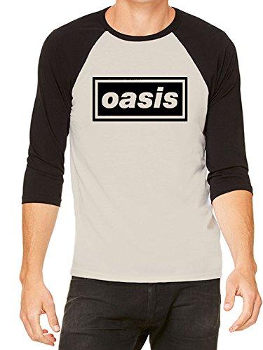 Oasis Band Logo Raglan Baseball Shirt for Men, Small or X-Large