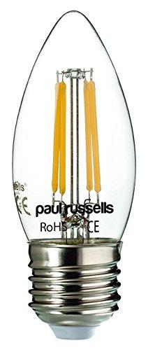 Paul Russel 6x Vintage Stil Edison Schraube LED-Leuchtmittel 2W antik Lampe klare Kerze Dekorieren Home C35Kronleuchter 360Abstrahlwinkel Lampe E27ES 2700K warmweiß 25W Glühlampe Ersatz [6Stück Leuchtmittel]