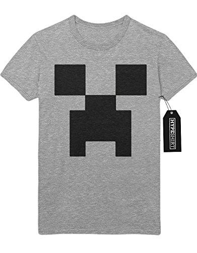 """T-Shirt Minecraft """"FACE"""" Z100051 Grau"""