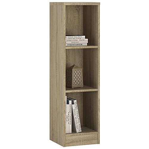 Furniture To Go 4 You - Libreria Stretta, in melammina, Misura Media, 30 x 112 x 35 cm Rovere Sonoma