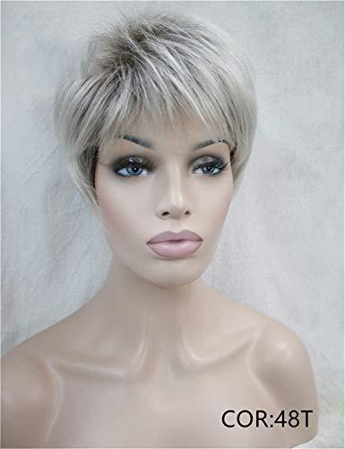 Kurze Geschichtete Blonde Shag Classic Cap Vollsynthetische PerüCke 48T 6Inches (Shag Perücke Kostüm)