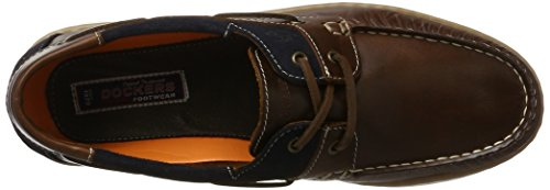 Dockers by Gerli 40cm001-182306, Chaussures Bateau Homme Marron (Braun/blau 306)